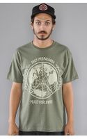 Obey The Peace Worldwide Basic Heather Tee in Heather Army - Lyst