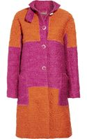 Bottega Veneta Block-color Wool-blend Bouclé Coat - Lyst
