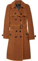 Burberry Prorsum Wool Tweed Trench Coat - Lyst