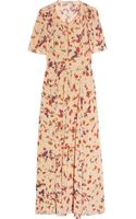 Vanessa Bruno Floral-print Silk-georgette Dress - Lyst