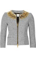 Moschino Key-embellished Wool-blend Jacket - Lyst