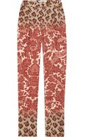 Clements Ribeiro Printed Silk-damask Pants - Lyst
