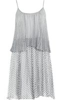 Halston Heritage Pleated Dress - Lyst