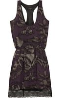 Robert Rodriguez Printed Silk-chiffon Dress - Lyst