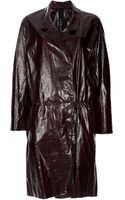 Petar Petrov Leather Coat - Lyst
