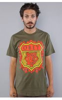 Obey The Low Life Monogram Basic Tee in Olive - Lyst
