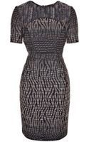 Matthew Williamson Patchwork Cocktail Weave Panelled Shift Dress - Lyst