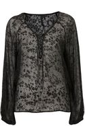 Topshop Tie Blouse By Boutique - Lyst