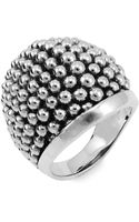 Lagos Sterling Silver Caviar™ Dome Ring - Lyst