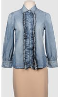 Stefanel Denim Shirts - Lyst