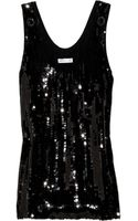 See By Chloé Sequined Cotton Tank - Lyst