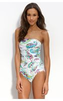 Tommy Bahama Windsor Paisley Bandeau Swimsuit - Lyst
