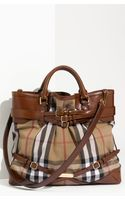 Burberry Belted Check Print Bag - Lyst