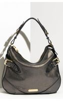 Burberry Metallic Leather Hobo - Lyst