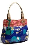 Fossil Key-per Printed Coated Canvas Shopper - Lyst