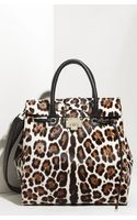 Jimmy Choo Rosabel Leopard Print Calf Hair Satchel - Lyst
