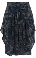 3.1 Phillip Lim Silk Skirt with Tie-front - Lyst