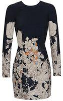 Cacharel Illustrated Wool-silk Dress - Lyst