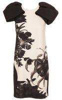 Giambattista Valli Floral Printed Crepe Wool Dress - Lyst