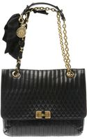 Lanvin Happy Quilted Leather Shoulder Bag in Black - Lyst