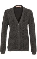 Marni Cashmere Knit Cardigan with Geometric-print - Lyst