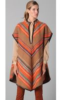 Matthew Williamson Blanket Striped Poncho - Lyst