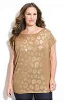 Michael by Michael Kors Sequin Front Tee (plus) - Lyst