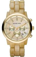 Michael Kors Oversized Horn Watch - Lyst