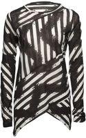 Proenza Schouler Tie-dye Stripe Spiral T-shirt - Lyst