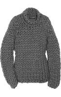 Dolce & Gabbana Chunky-knit Cotton-blend Sweater - Lyst