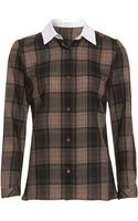 Carven Plaid Shirt - Lyst