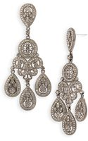 Nadri Large Pavé Teardrop Chandelier Earrings - Lyst