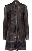 Coast + Weber + Ahaus Distressed Silk Print Dress - Lyst