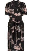 Runway To Green Marc Jacobs Floral-print Silk-blend Dress - Lyst