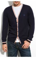 Fred Perry Tipped Cardigan - Lyst