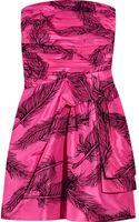 Juicy Couture Flock-print Silk-satin Dress - Lyst