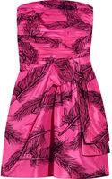 Juicy Couture Flock-print Silk-satin Dress - Lyst
