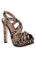 Pour La Victoire Helice Leopard Print Sandal - Lyst