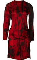 Balmain V-back Printed Silk-chiffon Dress - Lyst