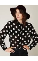 Free People Polka Dot Blouse - Lyst