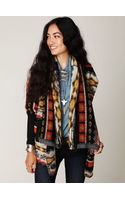 Free People Fairisle Knit Back Cardi - Lyst