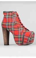 Jeffrey Campbell The Lita Shoe in Red Tartan - Lyst