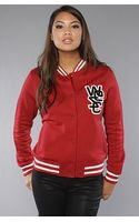 Wesc The Laika Fleece Jacket in Rio Red - Lyst