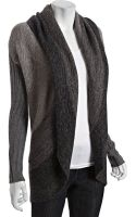 Autumn Cashmere Neutral Striped Cashmere Blend Tweedy Ombré Cardigan - Lyst