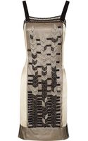 Philosophy di Alberta Ferretti Embellished Lace-overlay Silk Dress - Lyst