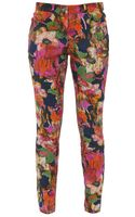 Erdem Connelly Floral Printed Cigarette Trousers - Lyst