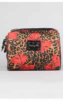 Betsey Johnson The Betseyville Cheetah Bows Lg Cosmetic Bag - Lyst
