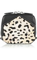 Alexander Wang Adriel Leather and Printed Calf Hair Clutch - Lyst