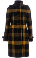 Burberry Prorsum Check Pattern Coat - Lyst