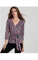 Diane Von Furstenberg Brittany Vintage Silk Wrap Top - Lyst